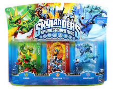 NIB Skylanders Spyro Adventure Pack CAMO IGNITOR WARNADO Skylander RARE Figures