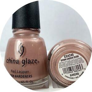China Glaze Nail Polish DOWN UNDER DUSK 245 Pink Brown Tan Gold Shimmer Lacquer