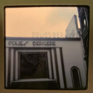 1965 Kodachrome Photo Slide Folies Bergere Paris France Marquis Sign Street