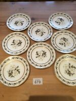 "Set Of 8 ROYAL WORCESTER BERNINA 6"" SIDE PLATES"