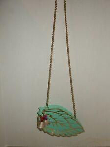 Kate Spade Full Plume Mint Leaf Leather Purse    NWOT