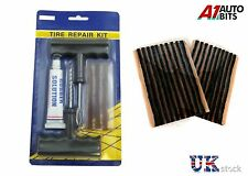 TUBELESS TYRE REPAIR PUNCTURE KIT TOOL PLUG SET CAR BIKE QUAD + 23 STRIPS NEW