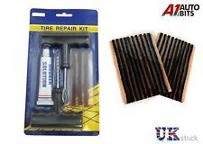 Neumáticos tubeless reparación de pinchazos Kit De Herramienta Enchufe Auto Set Moto Quad + 23 Tiras Nuevas