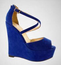 Sandali e scarpe casual blu in camoscio per il mare da donna
