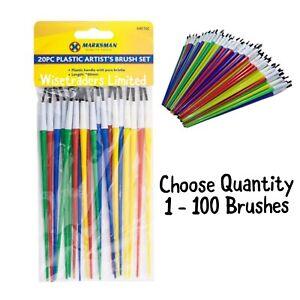 Kids Children's Paint Brushes Craft Painting Activity School Choose Quantity