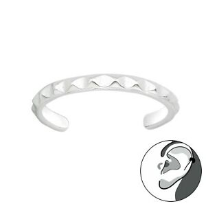925 Sterling Silver Plain Design Ear Cuff (Design 22)