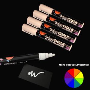 White & Coloured Liquid Chalk Pen Sign Wedding NoteBoard Glass Blackboard Window