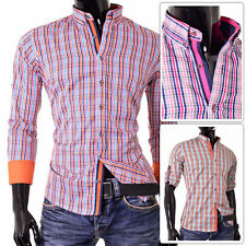 Check Casual Roll Sleeve for Men