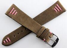 Bracelet/Band Cuir/Leather pour tous types de montres entrecorne 20mm