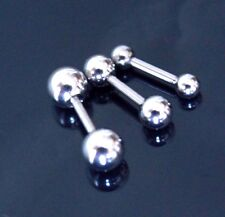 16g 6mm - 14mm Straight Bar Nipple Tongue Piercing Helix Tragus Earring Barbell