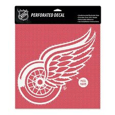 Detroit Red Wings Car Window Decal Perforated 12