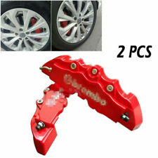 2 Pieces Red Car Wheel Brake Caliper Cover Front Rear Dust Resist Protection