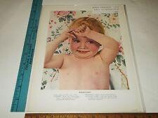 Rare Original VTG 1941 Print Example Paul Outerbridge Baby Advertising Art Print