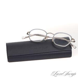 MODERN Warby Parker Larsen 5003 Silver Metal Baby Blue Border Glasses Frames NR