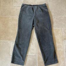 OSKA Cord Corduroy Trousers Grey Size 4 Fine Needlecord Lagenlook 'Pompea Long'