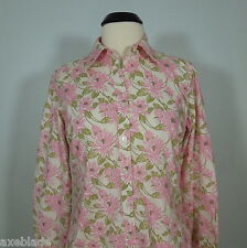 TOMMY HILFIGER Women's Floral Button Front Cotton Shirt, size 6