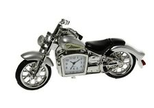 Miniature Silver Classic Motorbike Clock, Novelty Gifts, Dad, Son, Brother 0319