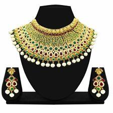 Indian Necklace Fashion Gold Plated Bollywood Bridal Wedding Ethnic Jewelry Set