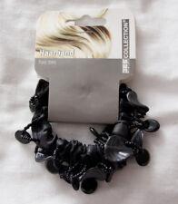 Farbe wählbar Haarband 2 x Scrunchie Haargummi mit Blüten in Alcantara-Optik