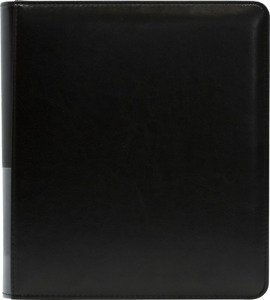 Dragon Shield Card Codex Portfolio (Binder) Black with Zipper | 4 Pages Included