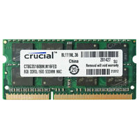 8GB 16GB 32GB PC3L-12800s DDR3L-1600 204pin 1.35V SDRAM For MacBook Pro iMac Mac