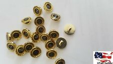 Lot 144 PIECES black gold self shank  button 12 mm 1/2 inch 20 ligne US SHIPPER