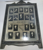Vintage 1928 OSSEO WISCONSIN High School Senior Class Picture FRAMED