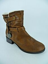 b7570706014 Evans Extra Wide Fit Fur Lined Ankle BOOTS UK 8 EU 42 Ln091 WW 01