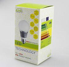 2X E27 LED Energy Saving LED Bulb Light Ball Lamp 7W Warm White AC 110V-240V