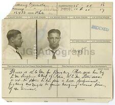 Police Booking Sheet - Burglary - Anthony Carrulla, Missouri 1930