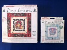 Lot of 2 Dimensions Daydreams Christmas Under Glass Counted Cross Stitch Kits
