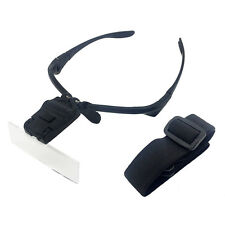 LED Illuminated Helmet Magnifier Watch Repair Headband Magnifying Glass Eyeloupe