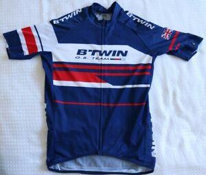 Clothing - BTWIN GB TEAM - Mens Medium Decathlon Cycling Top - Preowned