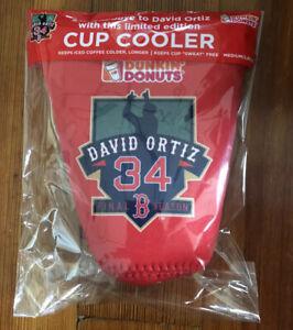 David Ortiz - Boston Red Sox Dunkin Donuts Cup Koozie 2016 Final Season! Med/Lrg
