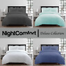 NightComfort Luxury Seer Sucker Modern Duvet Cover & Pillow Cases Bedding Set's