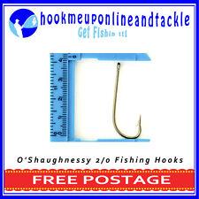 50 x Size 2/0 O'Shaughnessy Hooks Saltwater Freshwater Fishing Tackle Bulk