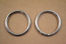 "O Ring - 1 1/2"" - Nickel Plated - Wire Welded - Pack of 12 (F419)"