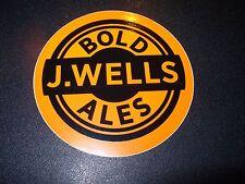 J. WELLS Boulder Colorado Bold Ales STICKER decal craft beer brewing brewery