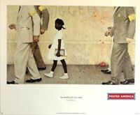 Norman Rockwell The Problem We Live With Rare 1997 Vintage Art Poster Print 18 x