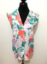 TRUSSARDI VINTAGE '80 Camicia Donna Cotone Flower Cotton Woman Shirt Sz.L - 46