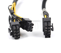 50cm 10pin to 6+8pin Power Adapter PCIE Cable for HP ProLiant DL380 G9 and GPU