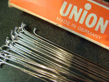 """27 New Berg Union CHROME Plated 10 5/8"""" butted steel spokes 14ga no nipples"""