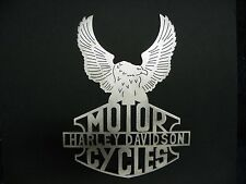 Harley Davidson Eagle Metal Sign Motor Cycle Wall Plaque Home Made Decor