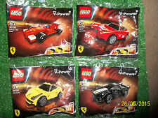 4x LEGO SHELL FERRARI PULL-BACK CAR PACKS 30190 150 30193 BERLINETTA 30194 30195