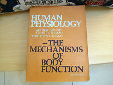 HUMAN PHYSIOLOGY The Mechanisms of Body Function second edition 1970 vintage