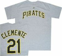 Pittsburgh Pirates Roberto Clemente Road Gray T Shirt Closeout Limited Quantites