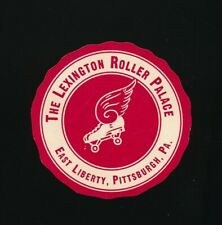 THE LEXINGTON ROLLER PALACE Original 1950s Skating Rink Sticker PITTSBURGH, PA