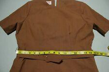 New listing Henry Lee Petites 1960s Vintage Brown Mod Rear Zip Short Sleeve Dress
