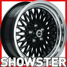 4 x 15x7 Performance Wheels Formula Black  5/120 Bmw e9 e12 e34 e39