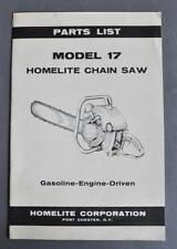 Original 1954 Homelite Chain Saw Gas Driven Engine Parts List Model 17 P/N 22836